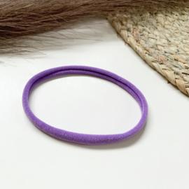 Paars haarbandje smal