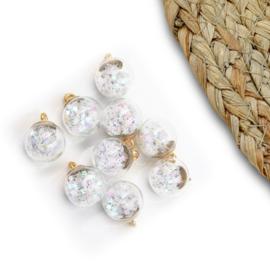 Confetti bal 15mm parelmoer sterren