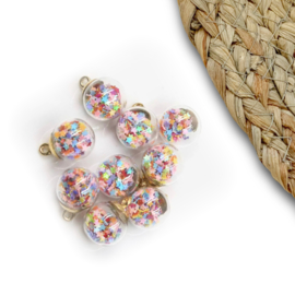 Confetti bal 15mm regenboog sterren