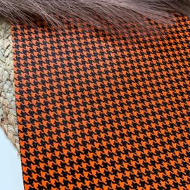 Pied-de-poule A4 oranje