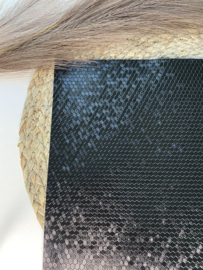 Honingraat Pearly zwart A4