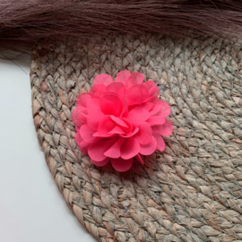 Chiffon bloem fel roze 7cm