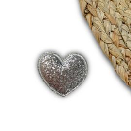 Hart glitter zilver
