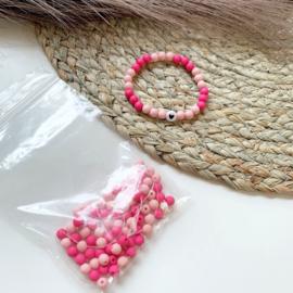 Armbandjes roze - 2 stuks