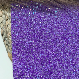 Chunky glitter paars A4