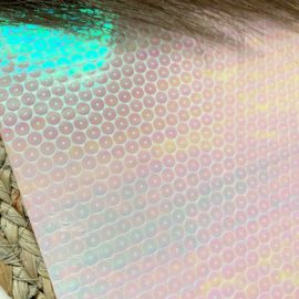 Parelmoer licht roze/wit rondjes 34x20cm