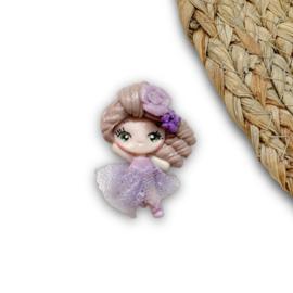 Ballerina kanten jurkje paars