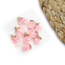 Confetti bal 15mm roze sterren