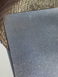 Fijn glitter zilver A4