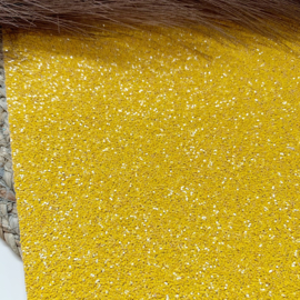 Glitter chunky geel 34x20cm