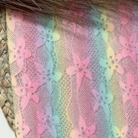Glitter rainbow kant luxe 34x20cm