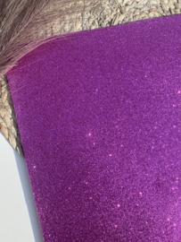 Fijn glitter paars A4