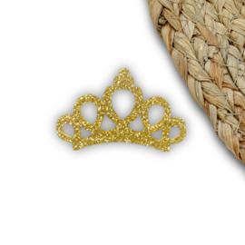 Kroontje goud 2,5x4,5cm
