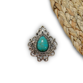 Royal turquoise 34x28mm