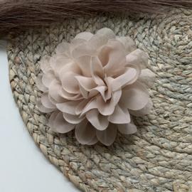 Chiffon bloem nude 10cm