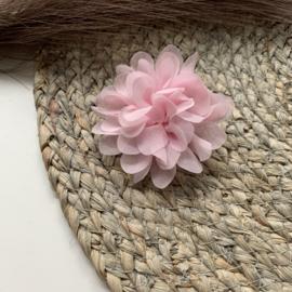 Chiffon bloem licht roze 7cm