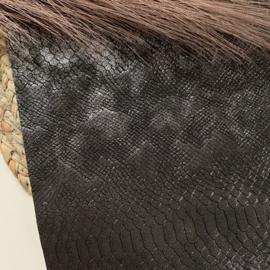 Slangen zwart zilverglans A4