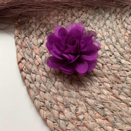 Chiffon bloem paars 7cm