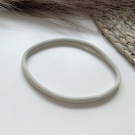 Lichtgrijs haarbandje smal