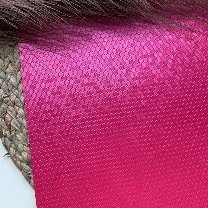 Honingraat  fuchsia roze A4