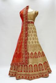 Lehnga Gold- Red