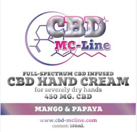 Handcrème voor droge handen 450mg CBD, 100ml