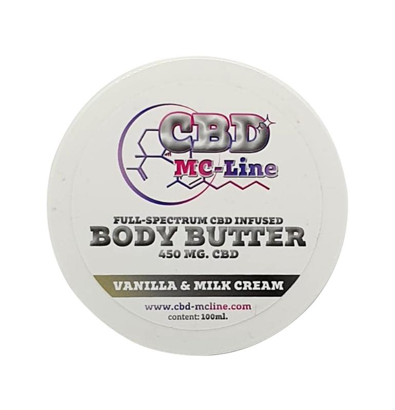 Body Butter Vanille & Melkcrème 450mg CBD, 100ml