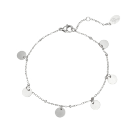 Armband 'Round & Round' zilver