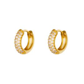 Gouden oorringen met steentjes 'Juliette'