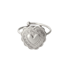 Ring met hart 'True Love' zilver