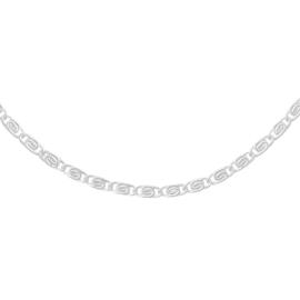 Zilveren schakelketting Griekse stijl 'Femme'