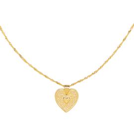 Ketting met hart 'Love Me' goud