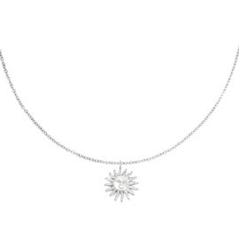 Ketting met hanger zon 'Lily' zilver