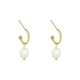 Oorbellen met parels 'Pearls' goud