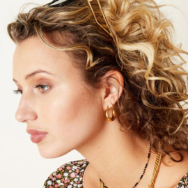Gouden oorringen 'Olivia' 22 mm