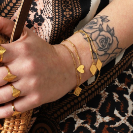 Armband 'Love To Travel' goud