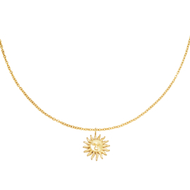 Ketting met hanger zon 'Lily' goud