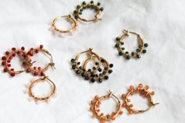 Oorbellen 'Colorful Crystal Beads' groen