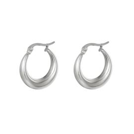 Zilveren oorringen 'Olivia' 22 mm