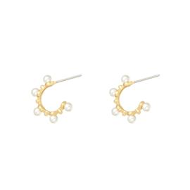 Oorbellen met parels 'Cute Pearl' goud