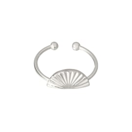Ring 'Beach Shell' zilver