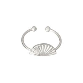 Ring 'Beach Shell' zilver