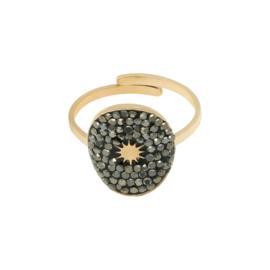 Ring 'Olivia' zwart/goud