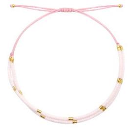 Armband 'Miyuki Beads' roze