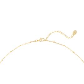 Gouden ketting met schelpjes 'La Playa'