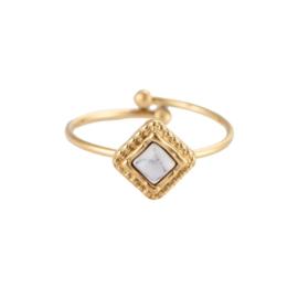 Ring met natuursteen 'Sarah-Jane' goud