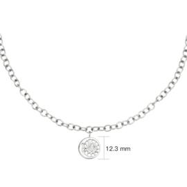 Schakelketting  met hanger maan 'Moonlight Chain' zilver