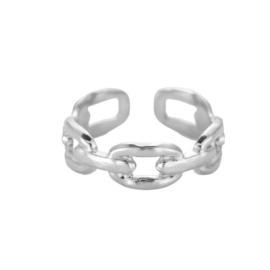 Ring met schakels 'Chunky Chain' zilver