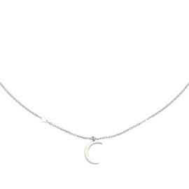 Zilveren ketting met maan 'Moonlight'