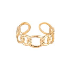 Ring 'Round Chain' goud